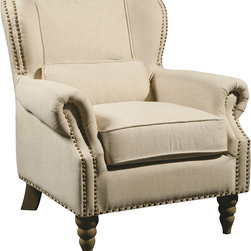 Furniture Classics - Furniture Classics Linen Wingback Chair -