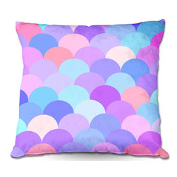 DiaNoche Designs - Pillow Woven Poplin by Organic Saturation - Pastel Scales Pattern - Toss this decorative pillow on any bed, sofa or chair, and add personality to your chic and stylish decor. Lay your head against your new art and relax! Made of woven Poly-Poplin.  Includes a cushy supportive pillow insert, zipped inside. Dye Sublimation printing adheres the ink to the material for long life and durability. Double Sided Print, Machine Washable, Product may vary slightly from image.