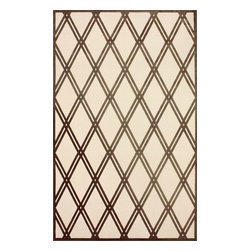 """nuLOOM - Contemporary Brown Machine Made Area Rug Trellis VL04, Brown, 7' 7"""" X 10' - Made from the finest materials in the world and with the uttermost care, our rugs are a great addition to your home."""