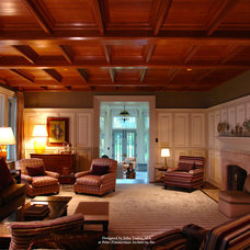 Traditional Family Room by John Toates Architecture and Design