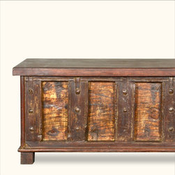 Rustic Distressed Reclaimed Wood Appalachian Storage Trunk Chest -