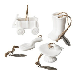 Smith & Hawken Ornament Garden Tools Set - For those who love gardening, these ornaments are perfect.
