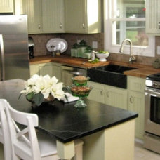 traditional kitchen countertops by Kelli Kaufer Designs