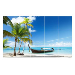 Picture-Tiles, LLC - Boat Ship Photo Kitchen Bathroom Tile Mural  36 x 60 - * Boat Ship Photo Kitchen Bathroom Tile Mural 1234