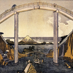 Keep Calm Collection - View Of Mount Fuji by Katsushika Hokusai, art print - Katsushika Hokusai (September 23, 1760 - May 10, 1849) was a Japanese artist, ukiyo-e painter and printmaker of the Edo period. He was influenced by such painters as Sesshu, and other styles of Chinese painting.