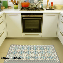 tilesnmats.com - kitchen mat - TilesNmats Comfort Mat is designed especially for under kitchen sink mats. it does not absorb liquids which make it easy to clean. It features pvc layers with skid resistant and fabulous decorative design.