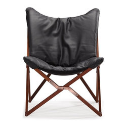 Zuo Modern - Zuo Modern Draper Modern Lounge Chair X-760005 - Curl up in perfect comfort with our Draper lounge chair. The Draper is wrapped in a soft luxurious leatherette on top a wooden collapsible base. Comes in white or black.