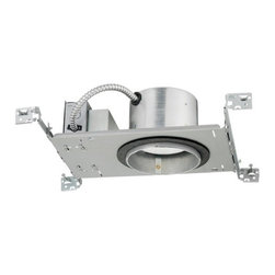 Juno Lighting Group - 5-Inch Dimmable LED New Construction Recessed Housing - IC20LED-G3-27K-1 - For 5-inch or 6-Inch recessed trims. Dedicated 5-inch LED new construction housing with integral 10.5-watt nominal light engine. This recessed LED housing provides a light that is similar to a 65-watt BR30 bulb while using only 10.5 watts of energy at 2700 Kelvin which produces a warm white light. Takes (1) -watt LED bulb(s). Bulb(s) included. Damp location rated.