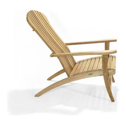 Westminster Teak Furniture - Teak Adirondack Chair - Some things just get better with age. Made of ecofriendly teak, this traditional Adirondack chair will develop a rich, silvery patina over time. Perfectly suited to your backyard or for commercial use, it's comfortably angled for maximum comfort.