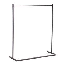 Alex Garment Rack - Sometimes you may find yourself with more clothes than closet space. If that sounds familiar, this nickel-finished steel rack can help. Place it in your bedroom or storage closet to hang those extra little pieces you just couldn't resist.