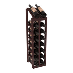 Wine Racks America - 2 Column 8 Row Display Top Kit in Redwood, Walnut Stain - Display your best vintage while efficiently storing 16 wine bottles. This slim design is a perfect fit for almost any space. Our wine cellar kits are constructed to industry-leading standards. Display top wine racks are perfect for commercial or residential environments.