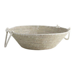 African Handmade Wok Basket - Beauty and function are at work with our African Wok Basket.  It's size provides the perfect dropping point for magazines, keys and more.