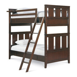 Universal - Smart Stuff - Freestyle Bunk Bed - What's better than having a playful bedroom with a modern wide slat bed? Having TWO modern wide slat beds! Luckily, Universal Furniture created the Mocha Bunk Bed so your kids can have double the style and double the fun! Available in Twin over Twin, Full over Full, or Twin over Full, this bunk bed and its amazing features will adapt to any existing bedroom decor. The combination of the finish and cherry veneer gives this set warmth, enhancing the design and giving you the modern style you love.