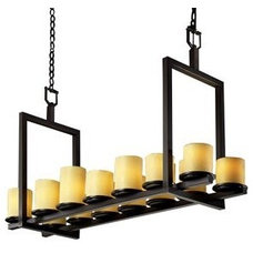 CandleAria Dakota Double Bar Linear Suspension by Justice Design Group