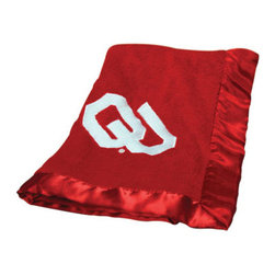 Collegiate Delight - University of Oklahoma Blanket - Let your school spirit show with these officially licensed collegiate baby blankets. These embroidered coral fleece blankets with matching satin trim are super soft to the touch and perfect for your future graduates and athletes.