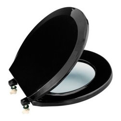 KOHLER - KOHLER K-4662-7 Lustra Round, Closed-Front Toilet Seat and Cover without Antimic - KOHLER K-4662-7 Lustra Round, Closed-Front Toilet Seat and Cover without Antimicrobial Agent in Black