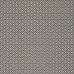 Resort Collection - Flat Shots - Kyra Key woven fabric in Charcoal (W77967) from Thibaut's Resort Collection