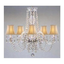 Gallery - Gallery T40-140 Authentic 5 Light 1 Tier Crystal Chandelier - Features: