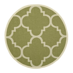 Safavieh - Safavieh Courtyard Rug with Green / Beige X-R5-442-3426YC - Safavieh takes classic beauty outside of the home with the launch of their Courtyard Collection. Made in Turkey with enhanced polypropylene for extra durability, these rugs are suitable for anywhere inside or outside of the house. To achieve more intricate and elaborate details in the designs, Safavieh used a specially-developed sisal weave.