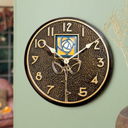 Whitehall Products LLC - Amber Dard Hunter Rose in French Bronze - Clock - Features: