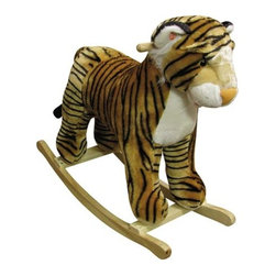 Fifthroom - Plush Toby Tiger Rocker - This tiger is grrrrrreat!! He has a plush body on a hardwood rocker base. Toby also has a realistic growl sound feature.