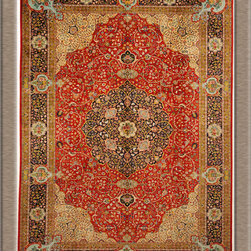"Persian Rugs, Oriental Rugs - An old Persian Tabriz rug signed by the master weaver ""Salami"""