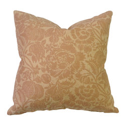 Bennison Floral Pillow - Batik floral on tea stained linen, poplin cotton back.