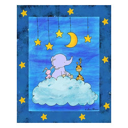 Oh How Cute Kids by Serena Bowman - Lullaby Adventures Cloud, Ready To Hang Canvas Kid's Wall Decor, 11 X 14 - Each kid is unique in his/her own way, so why shouldn't their wall decor be as well! With our extensive selection of canvas wall art for kids, from princesses to spaceships, from cowboys to traveling girls, we'll help you find that perfect piece for your special one.  Or you can fill the entire room with our imaginative art; every canvas is part of a coordinated series, an easy way to provide a complete and unified look for any room.