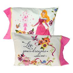 Disney - Disney Princesses Pillowcase Set Dream Big Pillow Covers - FEATURES: