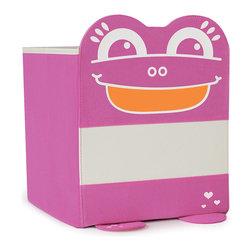 P'kolino - P'kolino Mess Eaters Cube Shelf Storage Bins, Pink - Playful Personalities that will Liven Up Boring Shelves!