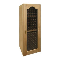 Vinotemp - VINO-250PRO Provincial 250-Model Wine Cabinet With Redwood / Aluminum Racking  D - Vinotemp39s Provincial style cabinets have arched display window doors These cabinets are handmade and include a state-of-the-art Wine-Mate cooling system universal racking and your choice of finish