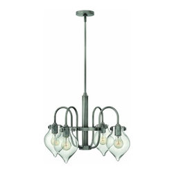 Hinkley Lighting - Hinkley Lighting 3047 Congress 4 Light 1 Tier Chandelier - Four Light Single Tier Chandelier with Clear Teardrop Shade from the Congress CollectionFeatures: