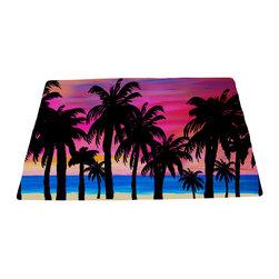 "xmarc - Beach Area Rugs, Pink Sky Sunset, 96""W X 48""Tall - Pink sky sunset beach plush area rug from my art."