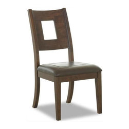 Klaussner - Dining Room Chair - Caturra - A cutout back accent adds visual interest to this casual dining chair, highlighted by a cushioned seat for added comfort. Constructed of rubber wood and mango wood in chocolate finish, the chair can be paired with a coordinating dining room table for a cohesive look.