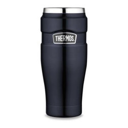 Thermos - Thermos Stainless King Travel Tumbler - With TherMax double wall vacuum insulation, this amply sized 16-ounce tumbler from Thermoswill keep hot beverages hot for up to 5 hours and cold beverages stay cold for up to 9 hours.