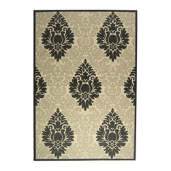 "Safavieh - Indoor/Outdoor Courtyard 6'7""x9'6"" Rectangle Sand - Black Area Rug - The Courtyard area rug Collection offers an affordable assortment of Indoor/Outdoor stylings. Courtyard features a blend of natural Sand - Black color. Machine Made of Polypropylene the Courtyard Collection is an intriguing compliment to any decor."