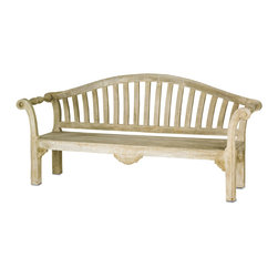 Currey & Co - Currey & Co 2021 Virginia Portland Bench - Inject rustic style into a foyer, bedroom, or other space with the addition of this Currey & Co 2021 Virginia Portland bench. This deluxe bench features a rough-hewn look that lends a country farmhouse vibe to your room to beckon those who enter to come in and sit for a chat. Details like turned arm rests and a slatted back add to the primitive charm of this well-built bench.
