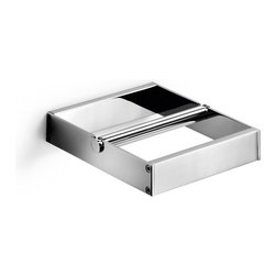 WS Bath Collections - Skuara 52806.29 Toilet Paper Holder - Skuara by WS Bath Collections Toilet Roll Holder 4.7 x 5.3 in Polished Chrome