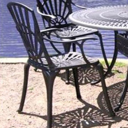 Casual Decor by Kaven - Monte Carlo Chair - Charcoal - Cast aluminum in our beautiful charcoal color. Dining Chair is available.