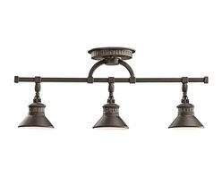 Kichler Lighting - Kichler Lighting 42439OZ Sayre Lodge/Country/Rustic Track Light In Olde Bronze - Kichler Lighting 42439OZ Sayre Lodge/Country/Rustic Track Light In Olde Bronze