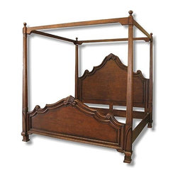 EuroLux Home - New King Canopy Bed Italian Tuscan Scroll - Product Details
