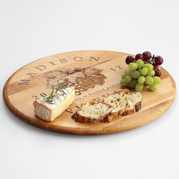 Personalized Lazy Susan - This handsome lazy Susan can be personalized with a family name and year for posterity — and equal opportunity reach for the good cheese.