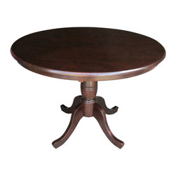 "International Concepts - International Concepts 36"" Round Dining Table in Rich Mocha - International Concepts - Dining Tables - K1536RT - This beautifully designed Round Pedestal Dining Table constructed in solid wood is perfect for any home decor."