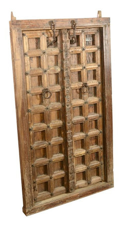 Sierra Living Concepts - Gothic Hand Carved Salvage Teak Wood Door - The design experience begins as you enter, so choose fabulous doors that make a statement about your style and good taste. The Gothic Natural Double Doors and Frame Set is hand crafted from solid teak. A teak wood door is designed to last for generations. Its fine wood grain, strength, and durability makes it the perfect wood choice for heirloom quality doors.