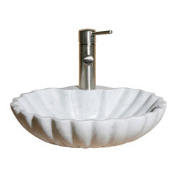 The Allstone Group - V-VSH17 Carrara White Polished Vessel Sink - Natural stone strikes a balance between beauty and function. Each design is hand-hewn from 100% natural stone.  Vessel sinks can be the most inspiring feature in a bathroom, adding style and beauty to any bath space.  Stone not only is pleasing to the eye but also has the feel of something natural and solid.