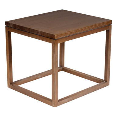 Reclamation Company - Earl Side Table, Heart Pine, Mahogany - The Earl collection is know as the Parson.  The Parson was designed by Jean-Michael Frank while at the Paris School of Arts and Design.  He challenged his students to design a table so that it would retain it's integrity wheather sheathed in gold leaf, mica, parchment, split straw, painted burlap, or even left robustly unvarnished.  Their striking design allows great use as modern or contemporary furniture.  Because this is a unique handmade piece, please allow a 4 to 6 week lead time. Note: Please use the swatch image for an indication of the wood and finish options.