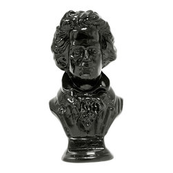 Casa de Arti - Ludwig Van Beethoven Bust Famous Music Artist Sculpture Figure Pianist - Ludwig van Beethoven was a German composer and pianist. A crucial figure in the transition between the Classical and Romantic eras in Western art music, he remains one of the most famous and influential of all composers.