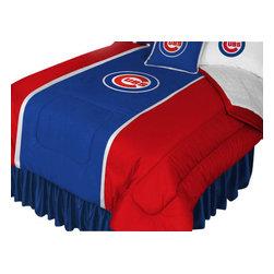Store51 LLC - MLB Chicago Cubs Comforter Pillowcase Baseball Bedding, Twin - Features: