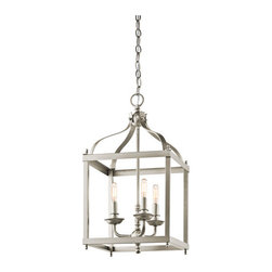 Kichler - Larkin Brushed Nickel Three Light Cage Foyer Pendant - - Finish/Color: Brushed Nickel  - Product Width: 12  - Product Height: 22.25  - Socket Type: CAND  - Chain Length: 72 Kichler - 42566NI