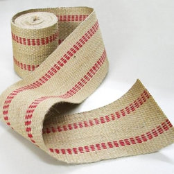 Upholstery Hardware Jute Webbing - Inexpensive and durable, jute webbing has a multitude of creative purposes. I'd use it to add a simple border to plain, store-bought curtain panels or as embellishment on a linen pillowcase.